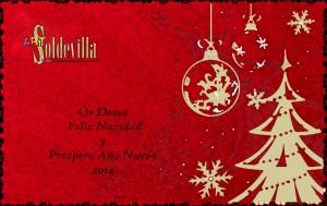Art Soldevilla Os Desea Feliz Navidad y Prospero Año Nuevo 2014